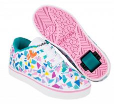 Heelys Launch White/Teal/Multi Geo